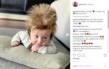 【海外発!Breaking News】「本当に地毛?」 逆立つフサフサの髪をもつ生後4か月の男の子(豪)