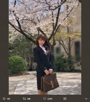 【エンタがビタミン♪】AKB48チーム8・山本瑠香、大学入学式のスーツ姿に 「洋服の青山のCM」の声