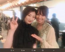 【エンタがビタミン♪】水崎綾女が武田梨奈に「いいから食べな」 ファンら「さすが拳を交えた女同士」