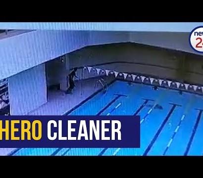 【海外発!Breaking News】プールの底に沈む男性を見た清掃員、咄嗟に飛び込み救助(南ア)<動画あり>