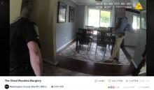 """【海外発!Breaking News】「浴室に侵入者が!」通報で駆けつけた警察官 """"犯人""""の正体に失笑(米)<動画あり>"""