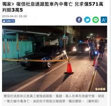【海外発!Breaking News】車内で張り込み中に調査員が一酸化炭素中毒死 興信所に12万円の賠償命令(台湾)