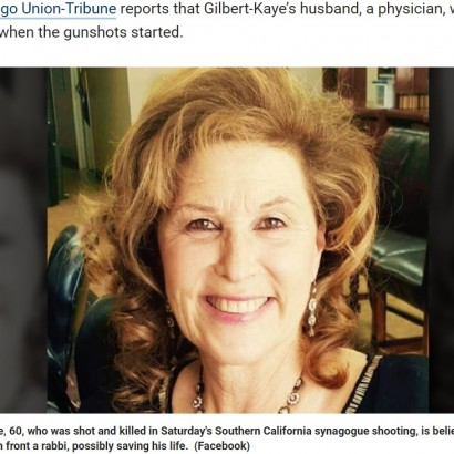 【海外発!Breaking News】米ユダヤ教礼拝所で銃撃された女性を救おうとした医師、妻と気づき失神