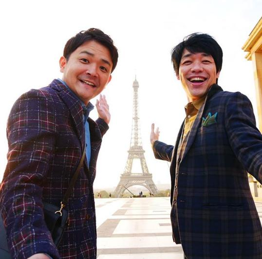 千鳥・ノブと麒麟・川島明(画像は『川島明(麒麟) 2017年9月30日付Instagram「フランスに来てます。#ノブとフランスでロケ」』のスクリーンショット)