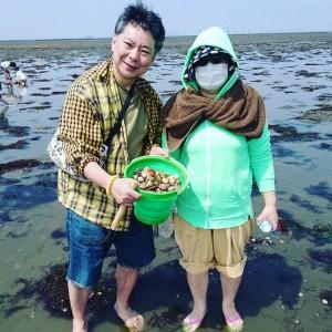 【エンタがビタミン♪】森三中・大島美幸、潮干狩りで完全武装も女性ファン「お気持ち分かります」