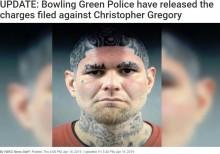 【海外発!Breaking News】ユニークなタトゥーを持つ前科者、マグショット公開で即逮捕(米)