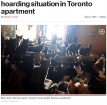 【海外発!Breaking News】2LDKのアパートに300匹以上の猫 まずは200匹を保護(カナダ)