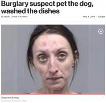 【海外発!Breaking News】見知らぬ家に忍び込んだ女、犬を可愛がり皿洗いまでしてその場を去る(米)