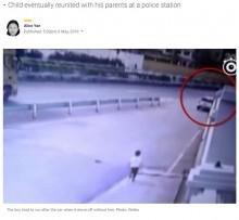 【海外発!Breaking News】高速道路で車を追いかける6歳児、親の不注意で置き去りに(中国)<動画あり>