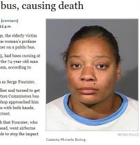 【海外発!Breaking News】「狂暴すぎる」女 高齢者をバスから突き飛ばし殺害(米)<動画あり>