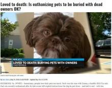 【海外発!Breaking News】「人間は身勝手なモンスター」 健康な犬を安楽死させ飼い主と一緒に埋葬(米)