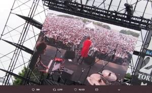 「観て下さってた方が去年よりも多くてめちゃくちゃ嬉しかったです」と山本彩(画像は『山本彩 2019年5月18日付Twitter「メトロック大阪!!」』のスクリーンショット)