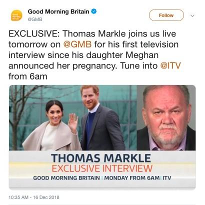 【イタすぎるセレブ達】メーガン妃の母ドリアさん、初孫誕生に歓喜 一方で父トーマスさんは…