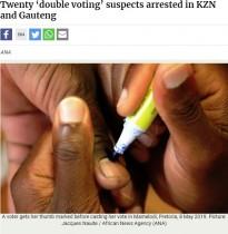 【海外発!Breaking News】南アフリカ総選挙、二重投票で20名逮捕 簡単にできることがSNSで拡散