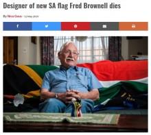 【海外発!Breaking News】南アフリカ国旗のデザイナー死去 2分で描いた「民主主義の象徴」