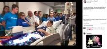 脳死状態の15歳少年が臓器ドナーに 見送りの儀式で家族は号泣(米)<動画あり>