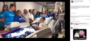 【海外発!Breaking News】脳死状態の15歳少年が臓器ドナーに 見送りの儀式で家族は号泣(米)<動画あり>