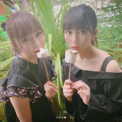 【エンタがビタミン♪】HKT48田中美久、指原莉乃と久々に再会 ファンも歓喜「りのみくきたー!」