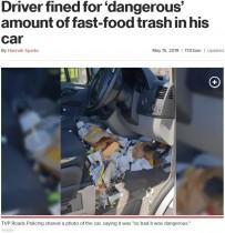 【海外発!Breaking News】車内ゴミだらけのドライバーが免許停止処分に(英)