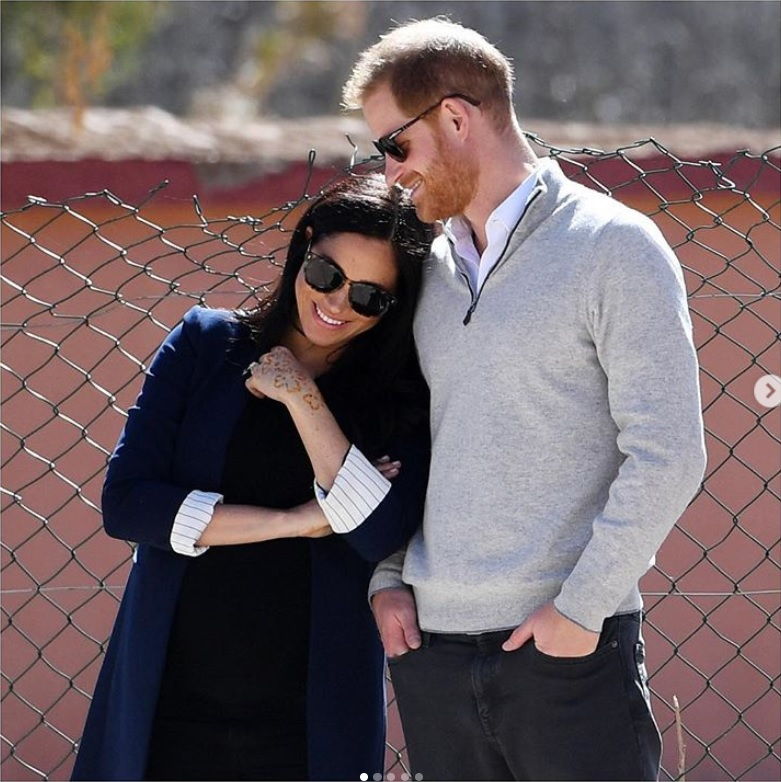ロイヤルメンバーの公式SNSをアンフォローしたヘンリー王子夫妻(画像は『The Duke and Duchess of Sussex 2019年4月5日付Instagram「What an incredibly special surprise the grassroots led #globalsussexbabyshower was last Sunday!」』のスクリーンショット)