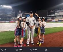 【エンタがビタミン♪】田中将大×ももクロ ヤンキー・スタジアムで並ぶ姿に「素晴らしい絆ですね」の声