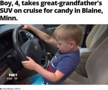 【海外発!Breaking News】4歳児「チョコレートを買いに行きたくて」祖父の車を運転(米)