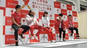 トークを弾ませたゆず(北川悠仁・岩沢厚治)、女優・綾瀬はるか、ロバートの秋山竜次、桐生祥秀選手