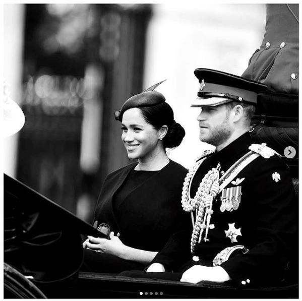 メーガン妃が英版『VOGUE』9月号に登場(画像は『Duke and Duchess of Sussex 2019年6月8日付Instagram「Today The Duke and Duchess of Sussex joined The Queen and members of The Royal Family at the annual Trooping the Colour, to celebrate Her Majesty's official birthday.」』のスクリーンショット)