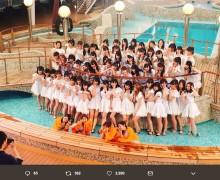 """【エンタがビタミン♪】AKB48が豪華客船でヒットメドレー 『テレ東音楽祭』の""""水オチ""""にファン「飛び込み選抜ナイス」"""