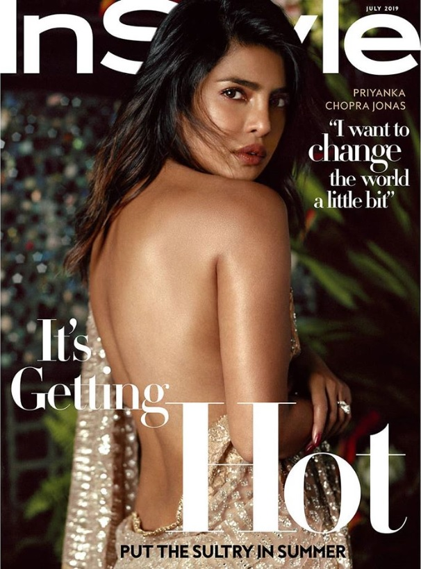 『InStyle』7月号の表紙を飾ったプリヤンカー・チョープラー(画像は『Priyanka Chopra Jonas 2019年6月5日付Instagram「Fashion is such an important part of global culture, often arising from centuries of tradition, and doesn't go out of style when the seasons change.」』のスクリーンショット)
