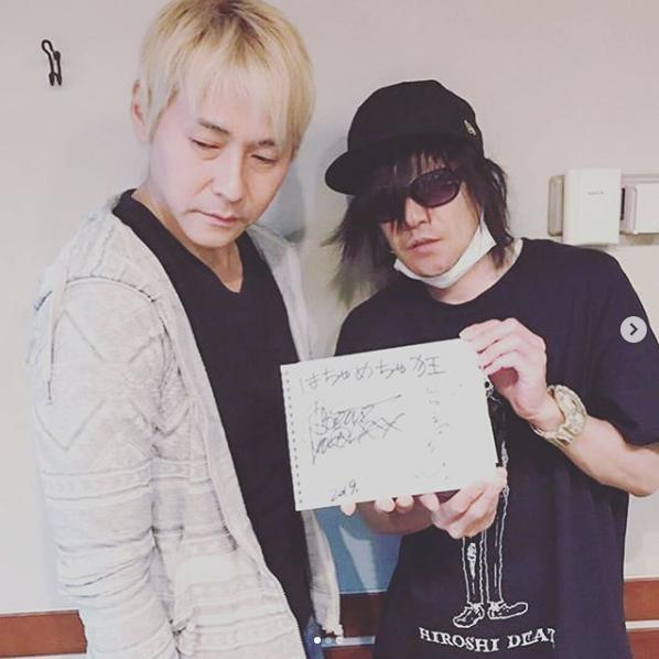 ヒロシとSCEANA(画像は『ANAECS ANGE 2019年6月5日付Instagram「坂本美雨のディアフレンズ DearFriends」』のスクリーンショット)