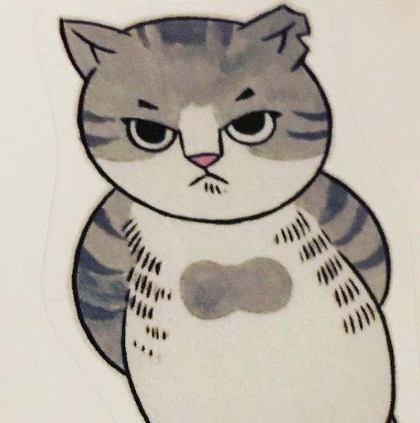 SCEANAが描いた「サバ美」(画像は『ANAECS ANGE 2019年6月6日付Instagram』のスクリーンショット)
