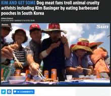 """【海外発!Breaking News】""""犬食反対""""集会のそばで、食用犬農家らが犬肉を食べて抗議(韓国)<動画あり>"""