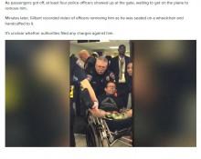 【海外発!Breaking News】他の乗客の座席に座り移動を拒んだ男、車椅子に乗せられ強制降機(米)<動画あり>