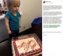 【海外発!Breaking News】ああ店員の勘違い 誕生日ケーキに「おめでとう 負け犬」のメッセージ(米)