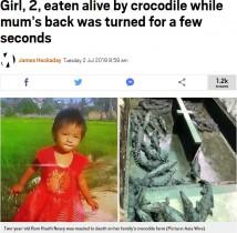 【海外発!Breaking News】ワニを養殖する一家 2歳娘がワニに襲われ死亡(カンボジア)