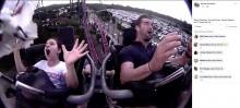 ジェットコースターに乗っていた女性の顔に鳥が直撃(豪)<動画あり>