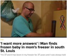【海外発!Breaking News】母親の遺品整理中、冷凍庫から乳児の遺体 見つけた息子「私の姉かも」(米)
