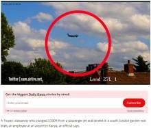 【海外発!Breaking News】ケニア航空機から凍結した遺体が落下、日光浴中の男性が巻き添え寸前に(英)