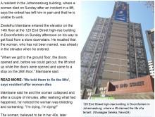 【海外発!Breaking News】エレベーター急上昇 1階から26階に衝突し1名死亡(南ア)