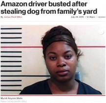 【海外発!Breaking News】Amazon配達員、仕事中に犬を盗みオンラインで販売しようとして逮捕(米)