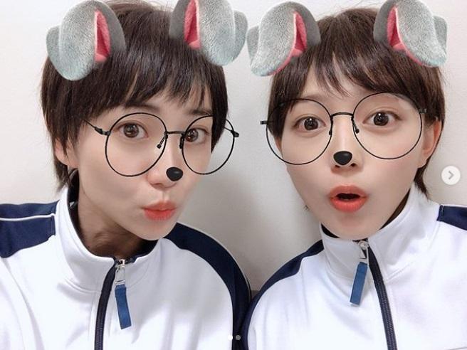 ウサギになった大島優子と川口春奈(画像は『川口春奈 2019年6月27日付Instagram「連日絶賛「教場」撮影中です。」』のスクリーンショット)