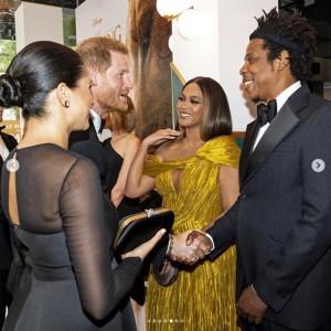 【イタすぎるセレブ達】ヘンリー王子&メーガン妃、ついにビヨンセ夫妻と対面 『ライオン・キング』ロンドンプレミアで