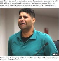 【海外発!Breaking News】30度の真夏日に1歳双子を車内に置き忘れ 「私が殺した」と父親、法廷で涙(米)