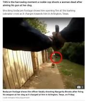 【海外発!Breaking News】向かってくる犬に発砲した新人警察官、流れ弾で女性死亡(米)<動画あり>