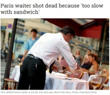 【海外発!Breaking News】「サンドイッチが遅い」客が店員を銃殺し逃走(仏)