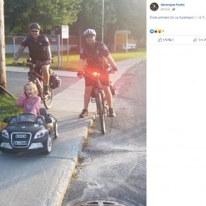 【海外発!Breaking News】おもちゃの車を運転する6歳児に偽の違反切符 警察官とのやり取りにほっこり(カナダ)