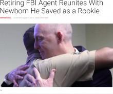 【海外発!Breaking News】22年前に救出した新生児とFBI捜査官が感動の再会(米)<動画あり>