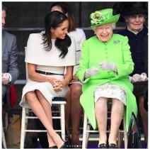 【イタすぎるセレブ達】メーガン妃、エリザベス女王に封印されたファッション・アイテムとは?