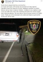 【海外発!Breaking News】飲酒運転の女、ガソリンスタンドの給油ノズルをぶら下げたまま走行し逮捕(米)